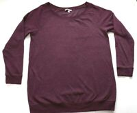 Victoria's Secret Plus Size XL 16 18 Lounge Sweater Soft Jersey Jumper Maroon