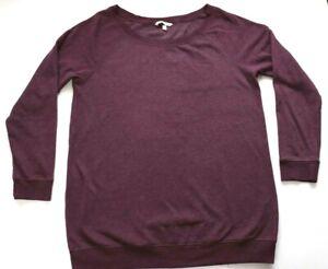 Victoria's Secret Plus Size XL 16 18 Lounge Sweater Soft Jersey Jumper Maroon