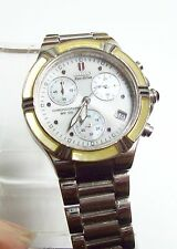 Lovely Unisex CITIZEN Eco-Drive Light Yellow & Pearl Chronograph Watch