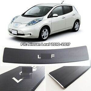 Rear Bumper Sill Protector Stainless Steel Carbon Foiled fit Nissan Leaf 2010-17