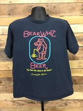 Vintage Bear Whiz Beer T-shirt XL Neon Sign Craft Beer 80s Sault Ste Marie MI