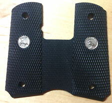 Colt OEM 1911  COMPACT MODELS Black Rubber Wraparound  Grips with Colt Logo