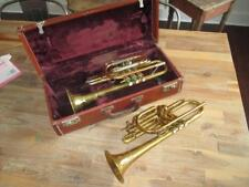 Vintage Cornet Lot Chris Kratt Tri Color Copper W/ Case + Yale Professional