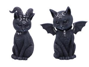 Nemesis Now Black Cats Bat Cat Horned Cat Malpuss Pawzuph Felines Figurine 11cm
