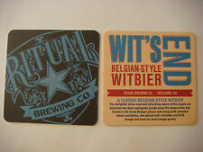 Beer Coaster ~^~ RITUAL Brewing Company Wit's End Witbier ~ Redlands, CALIFORNIA
