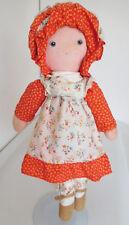 Vintage 1970's Knickerbocker Carrie, Holly Hobbie Cloth Friend w/ Tag