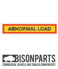 +TRUCK TRAILER TYPE 4 MARKER BOARD ABNORMAL LOAD SELF ADHESIVE 1265x225 BP76-184