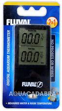 FLUVAL 2-in-1 DIGITAL THERMOMETER MEASURES WATER & ROOM TEMPERATURE AQUARIUM