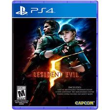 Resident Evil 5 Videogame pour Sony PS4 Consoles de Jeux Nouveau Scellé