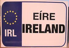 Irish Postcard ÉIRE IRELAND EU Euro License Plate Car Tag Stars Liffey Artefacts