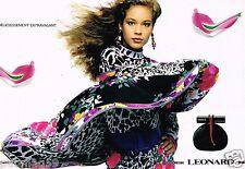 Publicité advertising 1989 (2 pages) Parfum Balahe  par Leonard