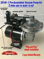 "Electric Vacuum Pump premium Kit For Power Brakes, Easy install, ""Plug and Play"""