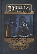 RIPPERS RESURRECTED-Spielerhandbuch-(HC)-SAVAGE WORLDS-PROMETHEUS GAMES-neu