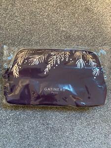 GATINEAU--MAKE-UP/COSMETICS BAG--PURPLE & SILVER~NEW