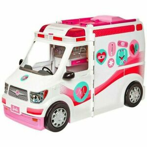 Barbie FRM19 Careers Care Clinic Ambulance Play Role Model Lights vehicle uk