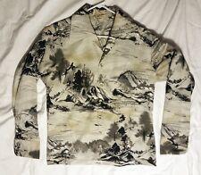 Vintage 70's D'Avila Large Grey Long Sleeve Disco Retro Gay Pointed Collar Shirt