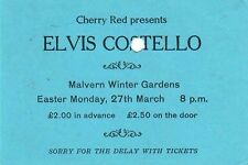 ELVIS COSTELLO & THE ATTRACTIONS (1978 CONCERT TICKET) SIGNED AUTOGRAPHS