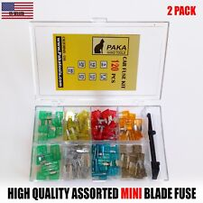 (2PACK)120pc MINI Blade FUSE Assortment Auto Car Motorcycle SUV  + REMOVAL TOOL