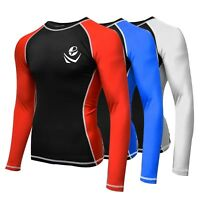 Long Sleeve Spandex Rash Guard Surf Shirt Water Sports Swimwear boxing mma bjj