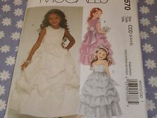 McCALL'S 5570 GIRLS FORMAL LINED DRESSES & SASH PATTERN-UNCUT-SIZES -2-3-4-5