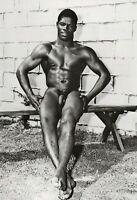 1950s BRUCE BELLAS of Los Angeles Black Nude Male Vintage Photo Engraving 11X14