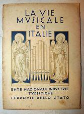 Musica in Italia Teatro Opera 1932 Vie Musicale en Italie ENIT FS Ferrovie Stato