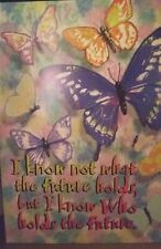 "Religious Butterfly Witness Wrapper Pocket Folder ""I Know Not What the Future."""