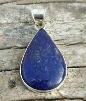 Lapis Lazuli Pendant 925 Sterling Silver Pendant Large Teardrop Pendant Gift Her