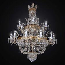 LAMPADARIO IN CRISTALLO CLASSICO ORO ASBURGO 36 LUCI BGA 2532/36 DESIGN SWAROVSK