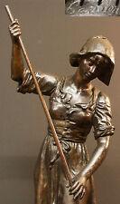 A 1880 Joseph Carlier rare statuette statue 62c6kg belle paysanne bronze régule