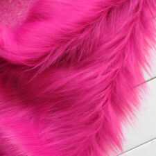 Fuchsia SHAGGY FAUX FUR FABRIC LONG PILE FUR costumes photo backdrops crafts BTY