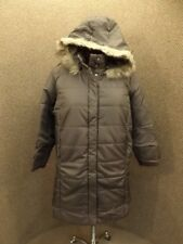 Roamans NEW Brown Long Knee Length Quilted Parka w/ Faux Fur Trim Hood Womens 1X