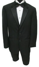 40L Black Ralph Lauren Two Button Tuxedo with Pants Clearance Cheap Prom Tux 40L