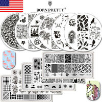 BORN PRETTY Nail Art Stamping Plates Lot Image Stamp Template Stencil Tools Kit