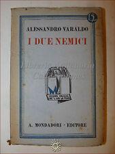 Alessandro Varaldo, I DUE NEMICI 1931 Libri Azzurri Mondadori Romanzo
