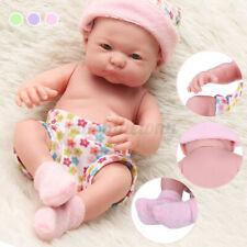 US 10 Inch Lifelike Reborn Toddler Doll Newborn Blonde Baby Kids Toy Xmas Gift
