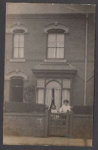 Postcard Sparkhill Birmingham house at 64 Ivor Road family collection 1908 RP