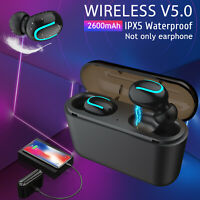 TWS Wireless 5.0 Headset Earbuds 5D Stereo In-Ear Headphones with Charging Box
