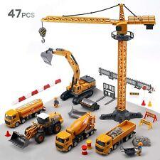 Alloy Construction Vehicles Truck Toy Set Kids Engineering Truck Playset Crane