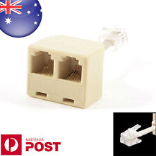 Telephone RJ11 Male Line to Double RJ11 Female Jack Filter Splitter Adapter Z004