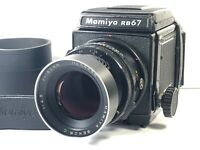 [Exc+4] MAMIYA RB67 Pro + Lens Sekor C 180mm f/4.5 + 120 Film Back from JAPAN