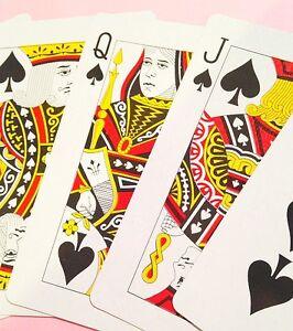 Playing Cards Full Deck of Jumbo Size Large Giant 3 X 5 BiG poker bridge gAmE !