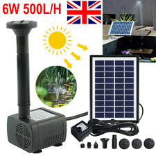 6w 500l/h Solar Panel Powered Water Pump Garden Pool Pond Fish Aquarium Fountain