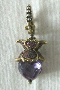 Barbara Bixby Sterling Silver/18K Pink Sapphire & Amethyst Lotus Charm