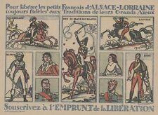 """""""EMPRUNT DE LA LIBERATION 1914-1918"""" Imagerie originale entoilée Roger BRODERS"""
