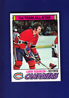 Larry Robinson AS HOF 1977-78 TOPPS Hockey #30 (EXMT+) Montreal Canadiens