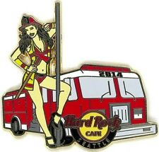Hard Rock Cafe SEATTLE 2014 Sexy FIRE Girl Ax Pole & Truck PIN LE 300 HRC #80096