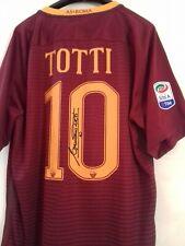 Maglia RARA shirt Francesco Totti AS Roma 2016 L autografata NO WORN ISSUED