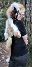 Custom Real Red Fox Headdress without paws - Totem Dance Costume