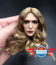 CUSTOM Elizabeth Olsen Scarlet Witch 1/6 Head Sculpt Blonde Hair for 12'' Figure